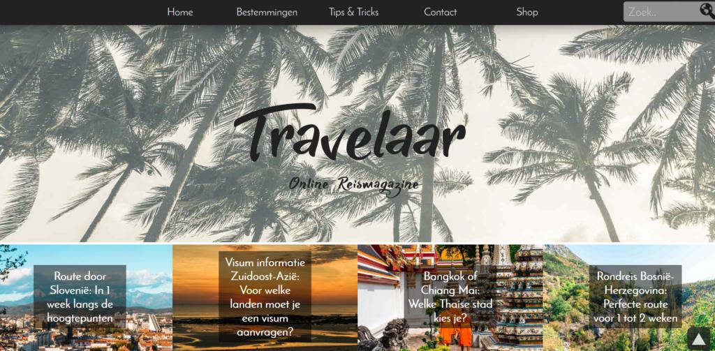 Travelaar-pagina