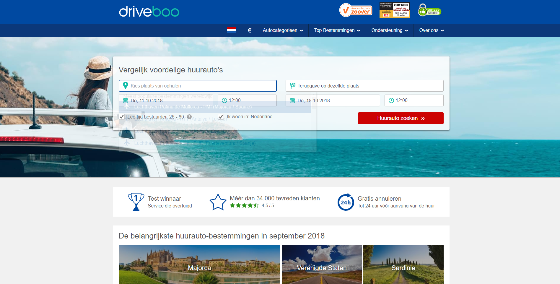 Driveboo, website - Blogs4Travel