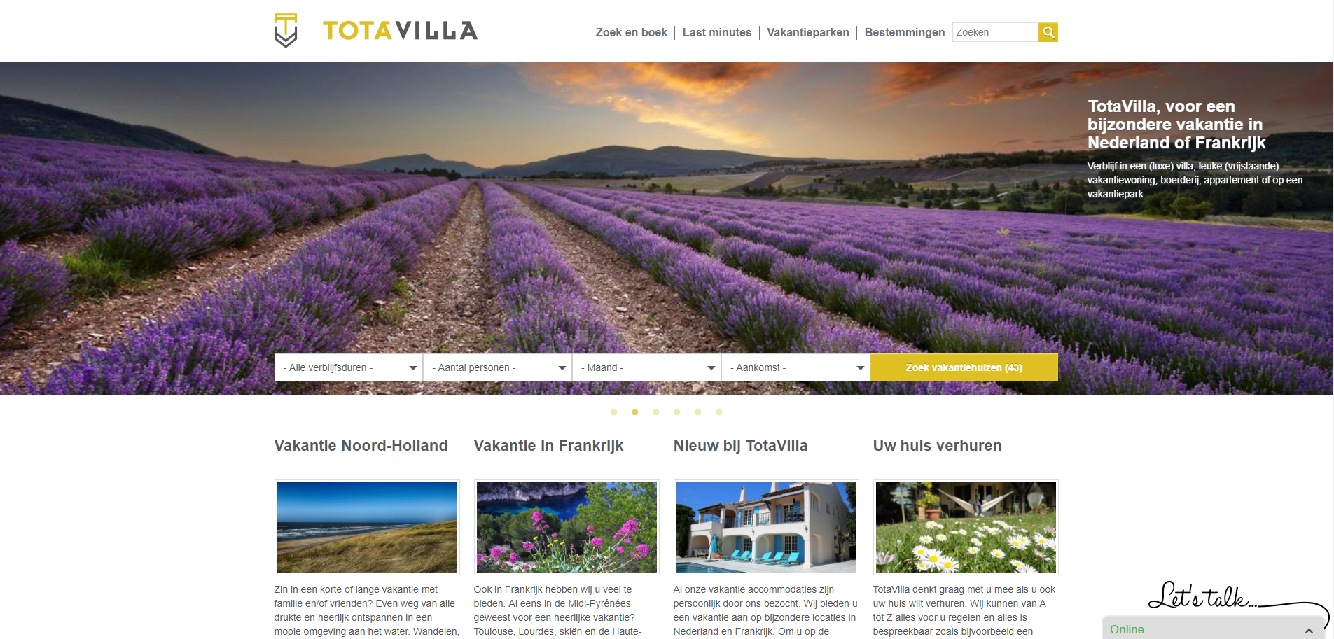 TotaVilla, website - Blogs4Travel