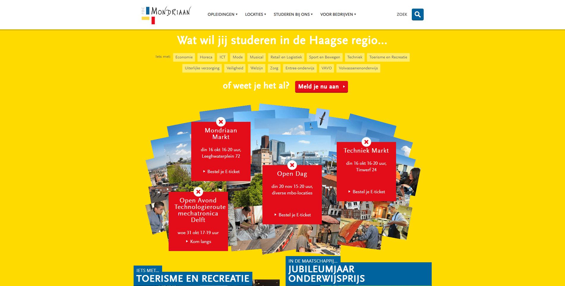 ROC Mondriaan homepagina