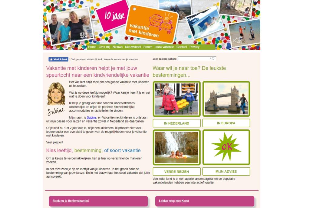 Vakantie met Kinderen homepagina