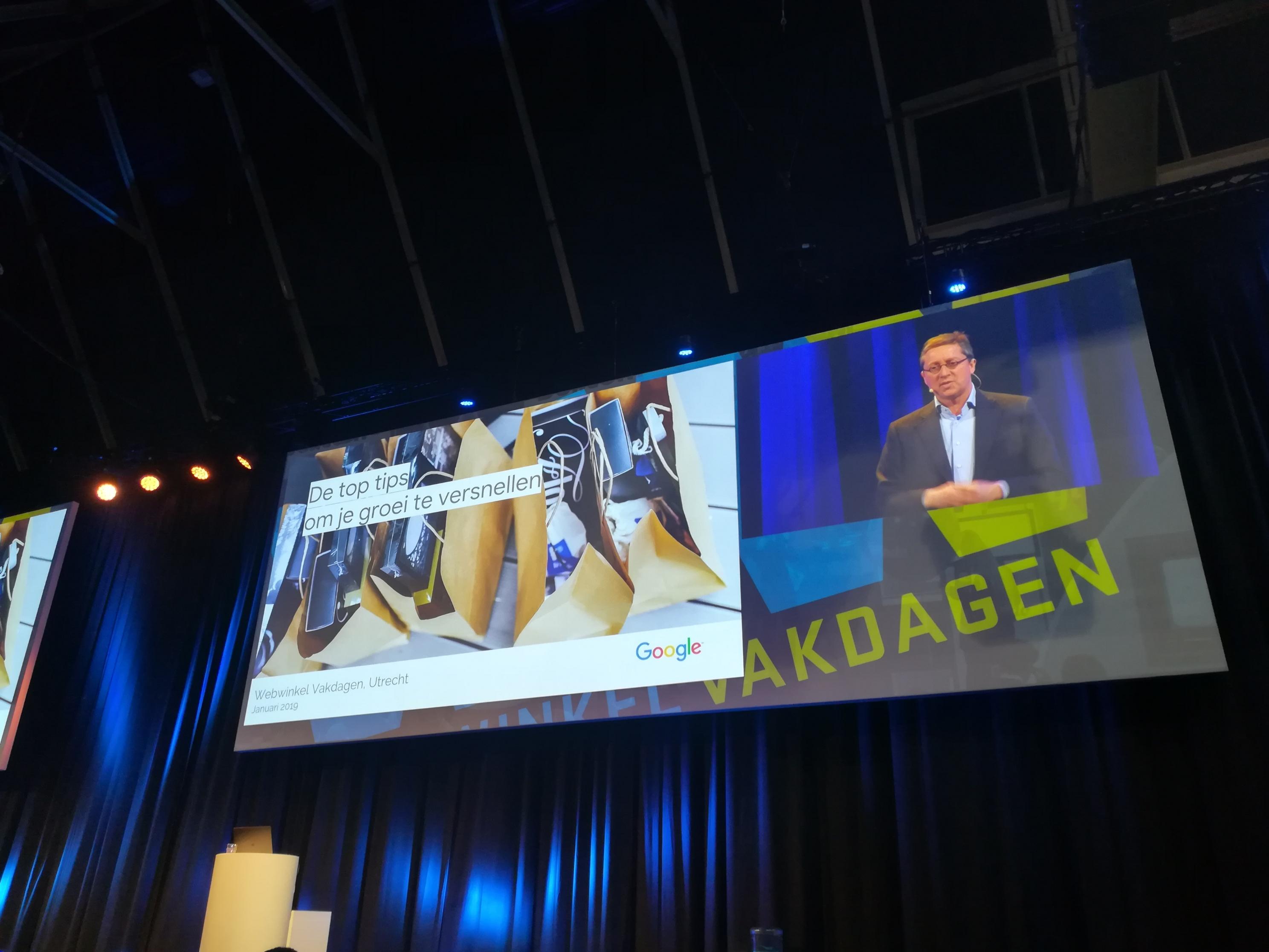 Webwinkel Vakdagen - Keynote Google