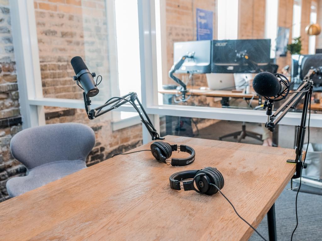 Podcasts inzetten - studio