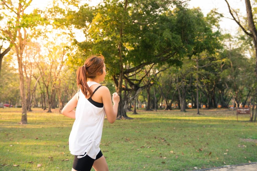 vrouw-hardlopen