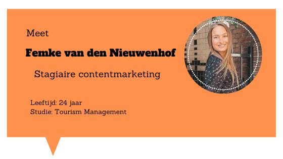 Een kijkje in de (werk)week van Femke van den Nieuwenhof - Stagiaire contentmarketing Blogs4Travel Woerden
