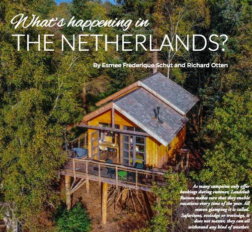 Impressie van het artikel in het Glamping Business Magazine